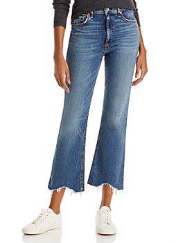 rag & bone - Nina Frayed Flare Ankle Jeans in Copper Hill