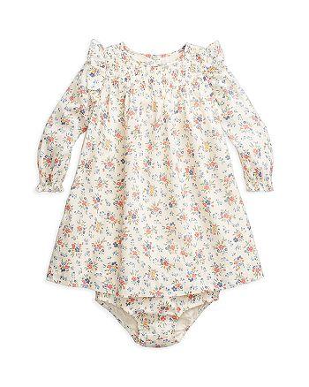 Ralph Lauren - Girls' Floral Print Smocked Dress - Baby