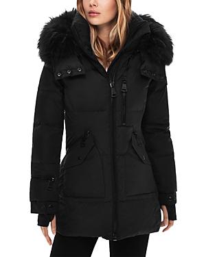 Sam. Hooded Fur Trim Puffer Coat