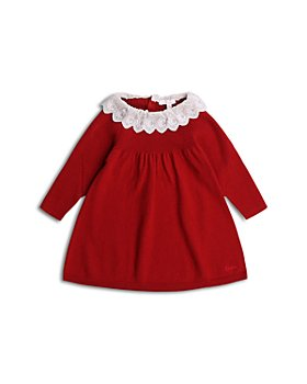 Chloé - Girls' Embroidered C Logo Collar Dress - Baby