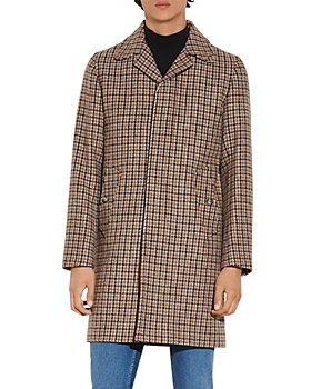 Sandro - Fox Houndstooth Wool Coat