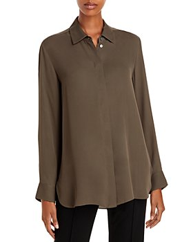 Theory - Classic Menswear Silk Shirt