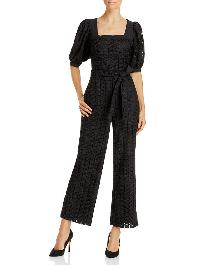 Lini Willa Belted Eyelet Jumpsuit - 100% Exclusive In Black