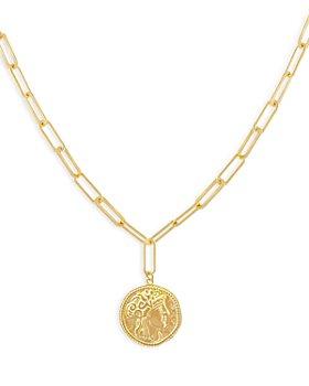 "Adinas Jewels - Vintage Coin Pendant Necklace, 16"""