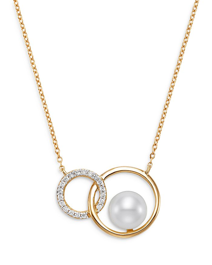 """Bloomingdale's - Cultured Freshwater Pearl Circle Pendant Necklace in 14K Yellow Gold, 16-18"""" - 100% Exclusive"""