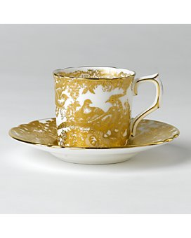 "Royal Crown Derby - ""Gold Aves"" Coffee Saucer"