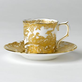 """Royal Crown Derby - """"Gold Aves"""" Coffee Cup"""