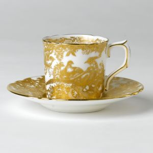 Royal Crown Derby Gold Aves Coffee Saucer