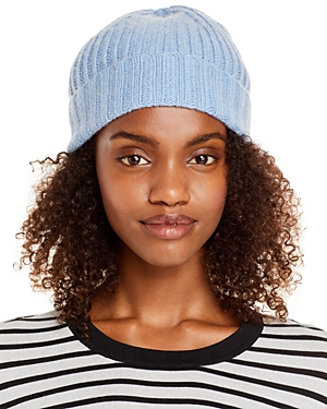 Ribbed Knit Cuff Cashmere Hat