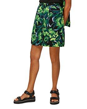 Whistles - Tulip Print Button Front Skirt