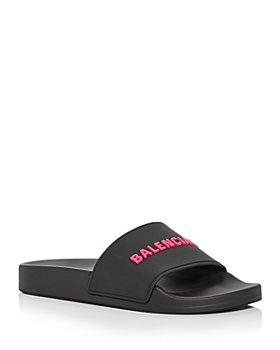 Balenciaga - Women's Logo Slide Sandals
