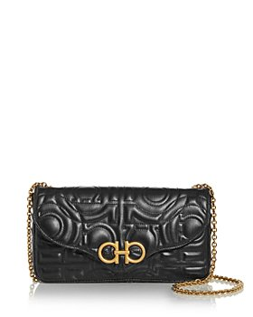 Salvatore Ferragamo - Mufasa Gancini Quilted Leather Crossbody