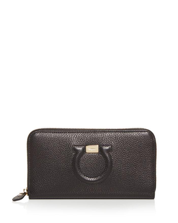 Salvatore Ferragamo Leather Continental Wallet    Bloomingdale's