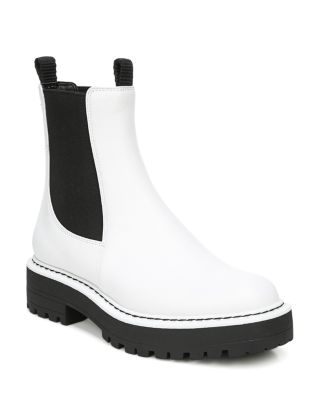White Leather Boots - Bloomingdale's