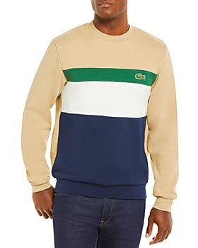 Lacoste - Cotton Color Block Classic Fit Crewneck Sweatshirt
