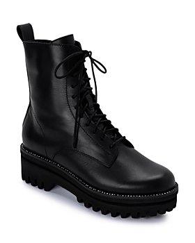 Dolce Vita - Women's Prym Rhinestone Trim Leather Platform Booties