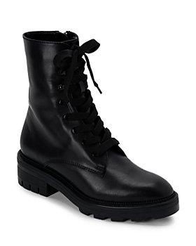 Dolce Vita - Women's Lottie Almond Toe Leather Combat Booties