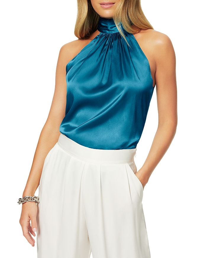 Ramy Brook - Lori Silk-Blend Draped Top