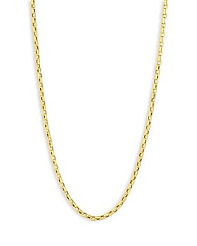 """Roberto Coin - 18K Yellow Gold Fine Gauge Square Link Chain Necklace, 34"""""""