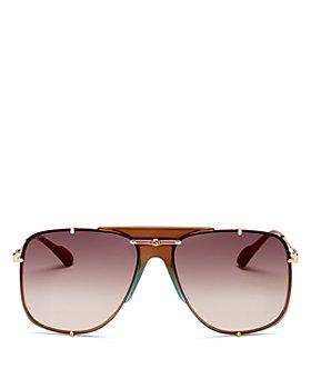 Gucci - Women's Brow Bar Aviator Sunglasses, 63mm