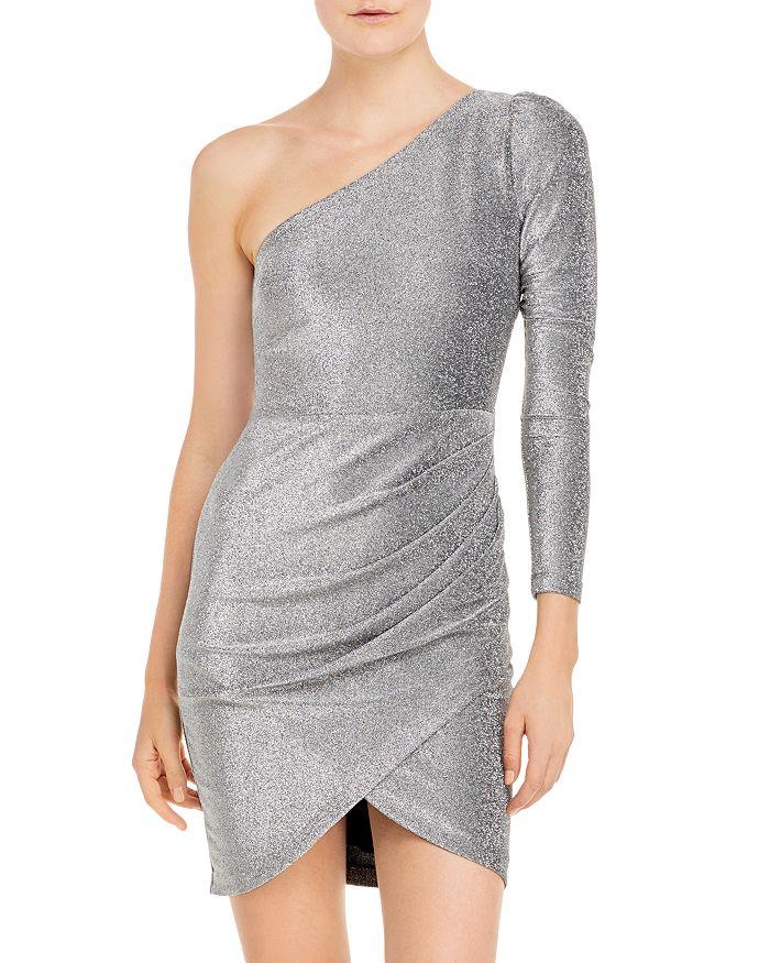 AQUA - Metallic One Shoulder Dress - 100% Exclusive