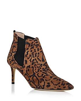 SJP by Sarah Jessica Parker - Women's Elke Leopard Print High Heel Booties