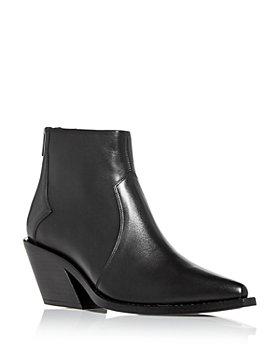 Anine Bing - Women's Tania Pointed Toe Block Heel Booties