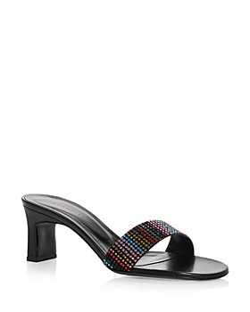 SIMON MILLER - Women's Hush Embellished High Heel Slide Sandals