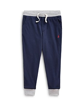Ralph Lauren - Boys' Contrast Trim Navy Jogger Pants - Little Kid