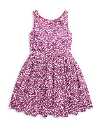 Ralph Lauren - Girls' Floral Cotton Dress - Little Kid, Big Kid