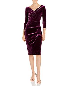 Chiara Boni La Petite Robe - Florien Velvet Faux-Wrap Dress - 100% Exclusive