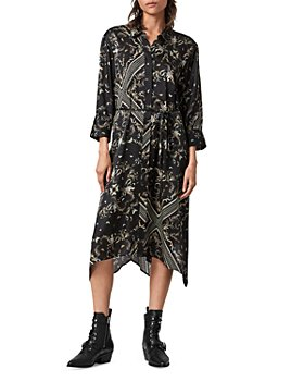 ALLSAINTS - Maia Assam Belted Shirtdress