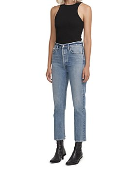 AGOLDE - Riley Cropped Straight Jeans in Emulsion
