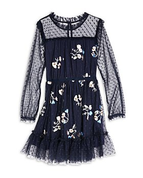 BCBG GIRLS - Girls' Floral Embellished Tulle Dress - Big Kid