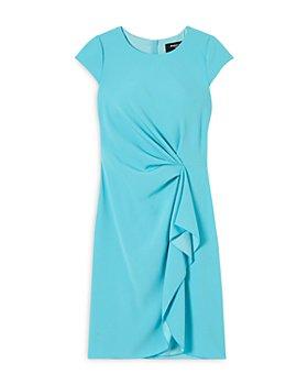 PAULE KA - Crepe Satin Cascade Sheath Dress