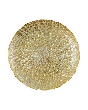 VIETRI - Rufolo Glass Gold Crocodile Salad Plate