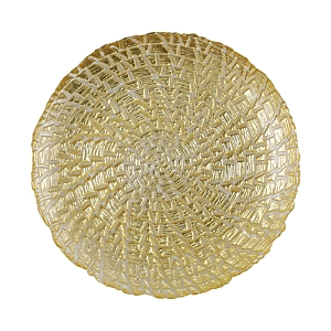 Vietri Rufolo Glass Gold Crocodile Salad Plate-Home