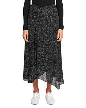 Theory - Printed Asymmetric Silk Skirt