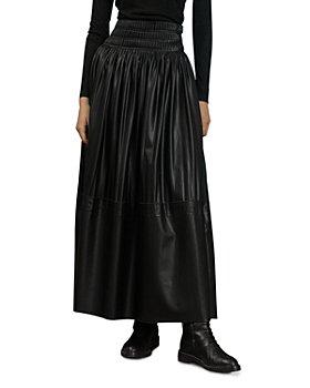 Nicholas - Dana Pleated Vegan Leather Midi Skirt