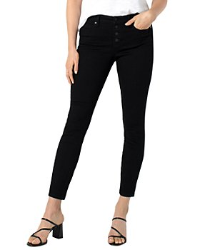 Liverpool Los Angeles - Abby Skinny Ankle Jeans in Black Rinse
