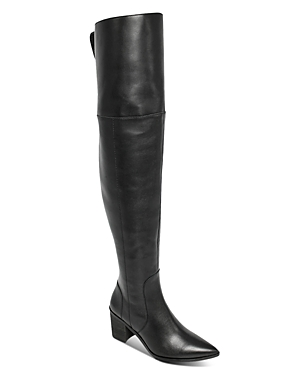 Charles David Women's Elda Pointed Toe Over The Knee Boots In Black-le