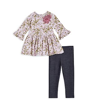 Pippa & Julie - Girls' Floral Print Tunic & Jeggings Set - Baby