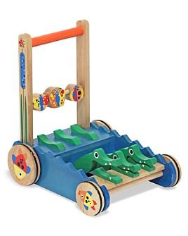 Melissa & Doug - Chomp & Clack Alligator Push Toy - Ages 1+
