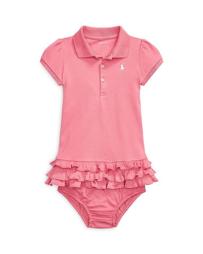 Ralph Lauren - Girls' Ruffled Cotton Polo Dress - Baby