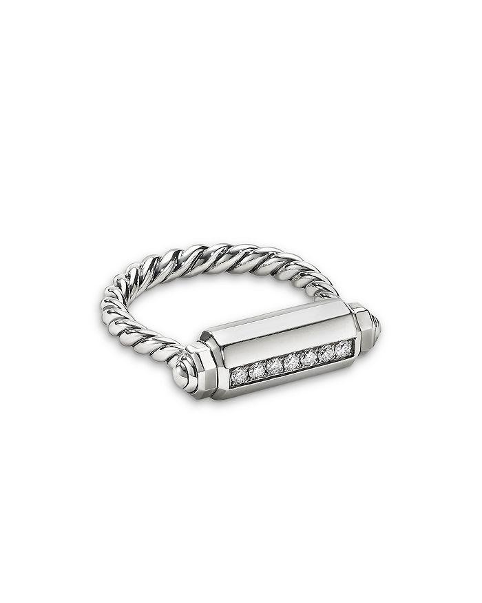 David Yurman - Lexington Barrel Ring with Diamonds