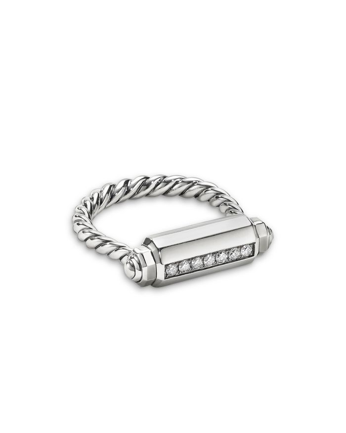 David Yurman Lexington Barrel Ring with Diamonds  | Bloomingdale's