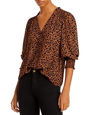 Aqua V Neck Button Front Blouse - 100% Exclusive-Women