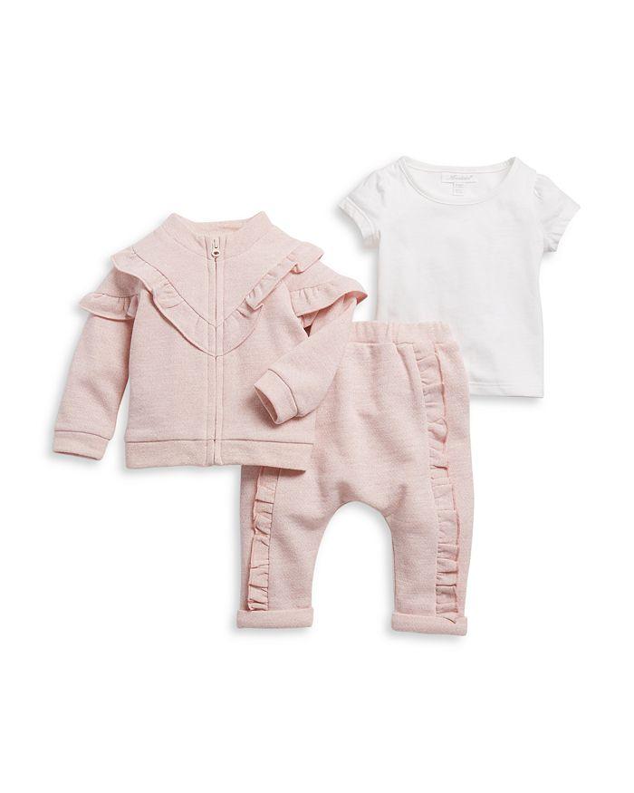 Miniclasix - Girls' French Terry Jacket, Pants & Tee Set - Baby