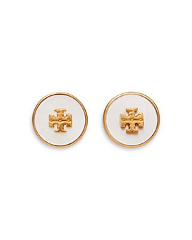 Tory Burch - Kira Semi Precious Logo Circle Stud Earrings