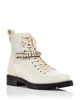 Jimmy Choo - Women's Cruz Lace Up Flat Boots